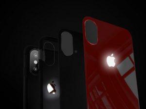 LED Light Illuminated Apple Logo 3D Case Cover For iPhone