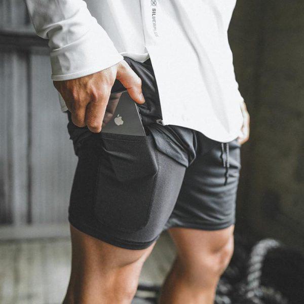 Men's 2 in 1 New Summer Secure Pocket Shorts