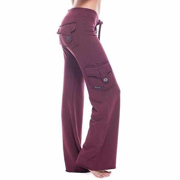 Stretchy Soft Bamboo Pocket Yoga Pants