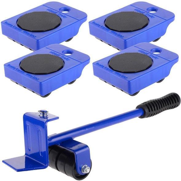 Naisicatar 5 Pc//Set Einfaches M/öbel Lifter Mover Tool Set Heavy Duty M/öbel Roller Bewegen Bis 150 Kg 330 Lbs Geeignet F/ür Sofas Sofas Und K/ühlschr/änke Gelb