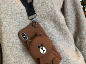 iPhone and SAMSUNG Cartoon Storage Phone Case