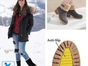 Premium Women Suede Snow Chunky Ankle Boots