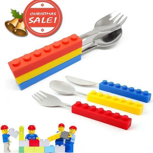 Brick Shape Stackable Cutlery Set