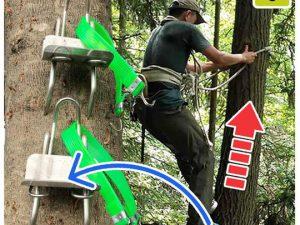 Tree Climbing Stepper Tool