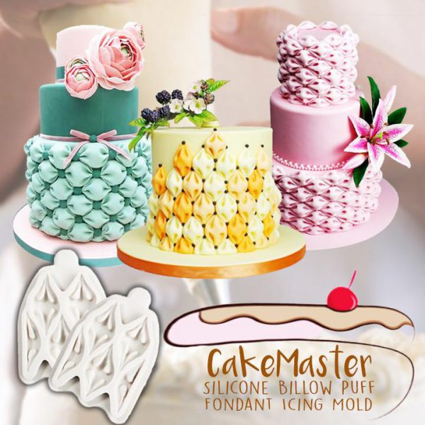 CakeMaster Silicone Billow Puff Fondant Icing Mold