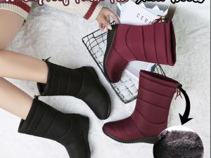 Waterproof Faux Fur Snow Boots
