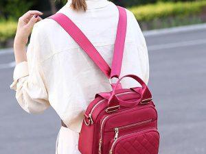 Women's Buckle Patchwork Zipper Casual Shoulder Bags