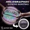 Holographic Glowing Reflective Basketball