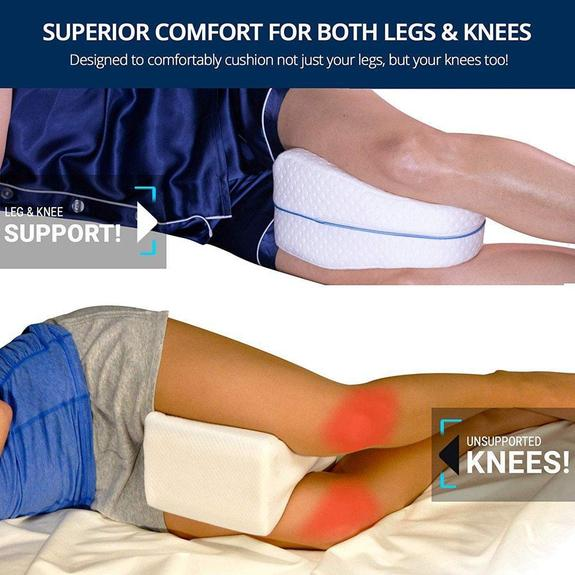 Memory Foam Knee Leg Pillow Bed Cushion Hips Support Pain Relief Orthopaedic US