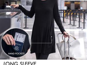 Long Sleeve Sweatshirt Travel Dress
