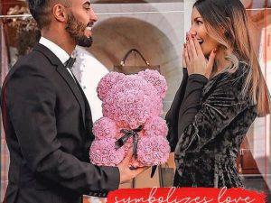 Sweet Valentine Eternal Rose Teddy Bear