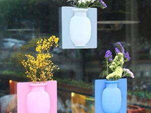 3Pcs Magic Wall Decor Plant Vases Flower Container
