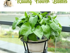 Easy Hang Durable Railing Flower Basket