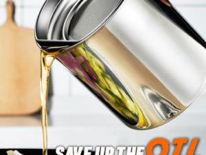 deGREASE Stainless Steel Oil Filtering Pot
