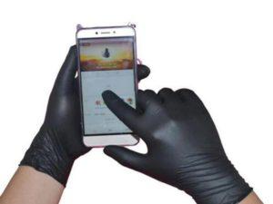 Black Disposable Latex Gloves