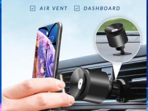 VacuumHold 2-in-1 Car Phone Holder