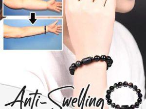 Anti-Swelling Black Obsidian Bracelet