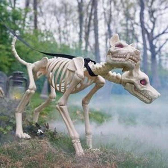 Animated Two Headed Skeleton Dog