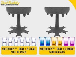 ShotBuddy™ 6 Shot Glass Dispenser and Holder