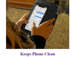 Clean and Safe Touch Screen Wallet