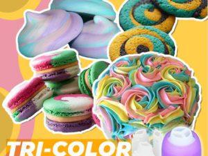 Bakeo™ Tri-Color Pastry Nozzle