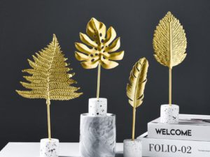 Golden Leaves Ornaments
