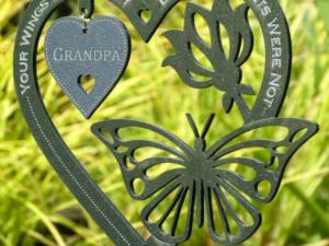 Last Day 50% OFF - Memorial Gift Butterfly Ornament-Garden Memorial Plaque