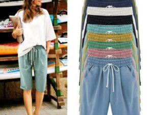 21ss Elastic Waist Casual Comfy Summer Shorts