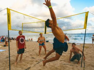 (🔥Summer Hot Sale - 50% OFF) Cross Volleyball Net, Set Up Within Minutes In Sand, Grass, Or Indoors