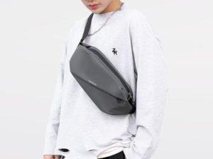 Oblique Zipper Cross Body Bag